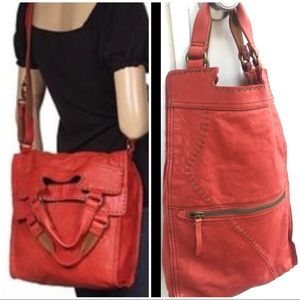 LUCKY BRAND Abbey Road Red Messenger Crossbody Bag